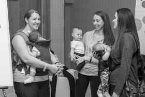 Moms and babies at Rochester 2016 event